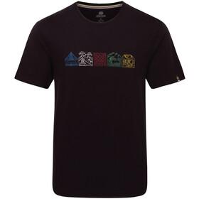 Sherpa Lungta Camiseta Hombre, black
